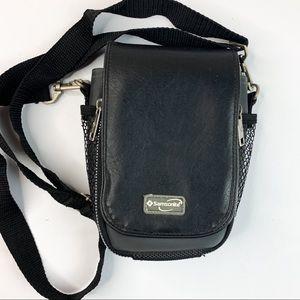 Vintage Samsonite Leather Travel Crossbody Bag